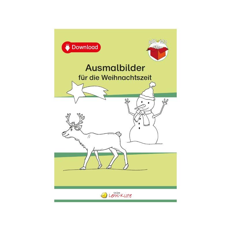 ausmalbilder weihnachten für die grundschule  pdf zum