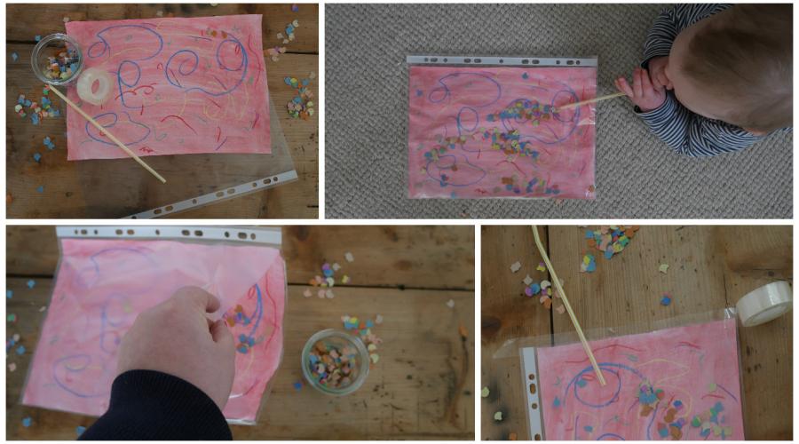 Kreatividee Fur Fasching Im Kindergarten Bunte Konfetti Bilder