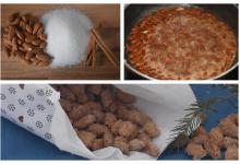 Kitaküche gebrante Mandeln im Advent