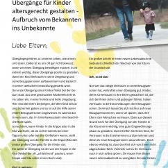 Eltern Abschiedsbrief kindergarten an